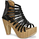 Denill Women Block Heels Party Casual Wear (Zipper Sandals)