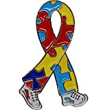 Pin para solapa, diseño de lazo que camina de campaña para la concienciación sobre el autismo
