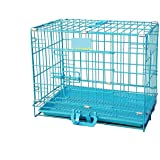Single Door Folding Metal cage with Removable Tray and paw Protector for Dogs,Cats and Rabbits 18 inch - Central Fish Aquariu