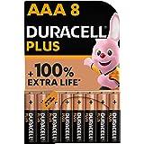 Duracell - NUOVO Plus AAA, Batterie Ministilo Alcaline, Confezione da 8, 1.5 volt LR03 MN2400