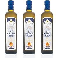 Olio Clemente - 3 Bottiglie di Olio Extra Vergine di Oliva D.O.P Dauno Gargano, 100% Italiano, Re Manfredi, 0,75ml