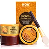 WOW Skin No Parabens, Sulphate, Mineral Oil & Color, Science Turmeric Clay Face Mask For Helping To Brighten & Even Out Compl