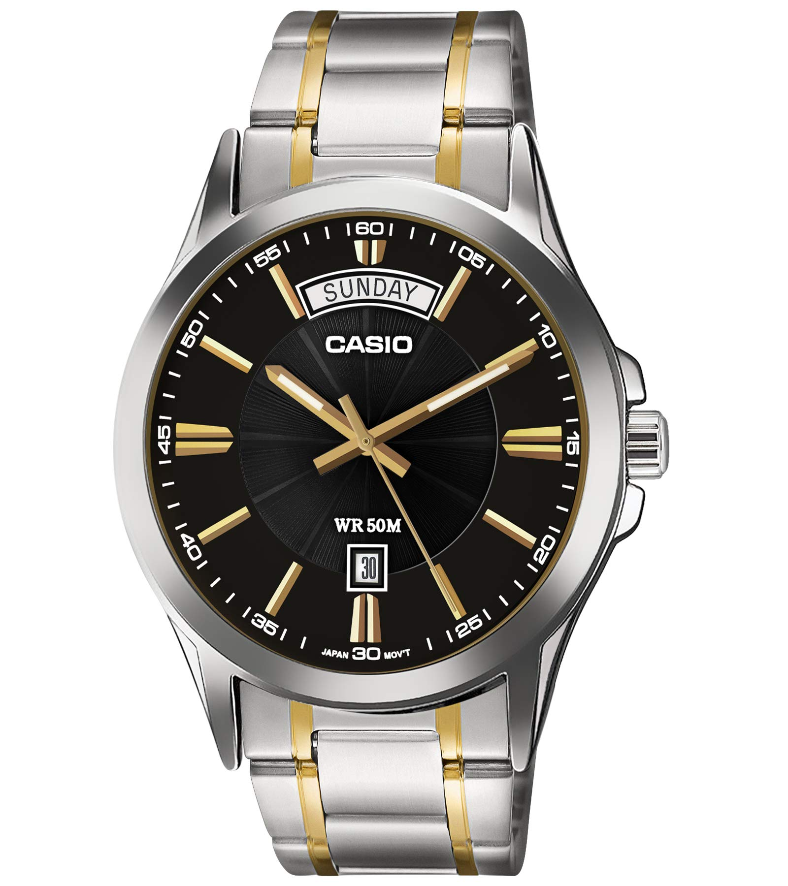 Casio Enticer Analog Black Dial Men's Watch – MTP-1381G-1AVDF (A842)