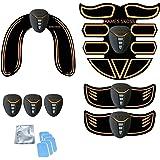 Elektrostimulatie apparaat,EMS Trainingsapparaat, Buikgordel voor Mannen en Vrouwen, Spierstimulator Kit voor Armen + Dijen +