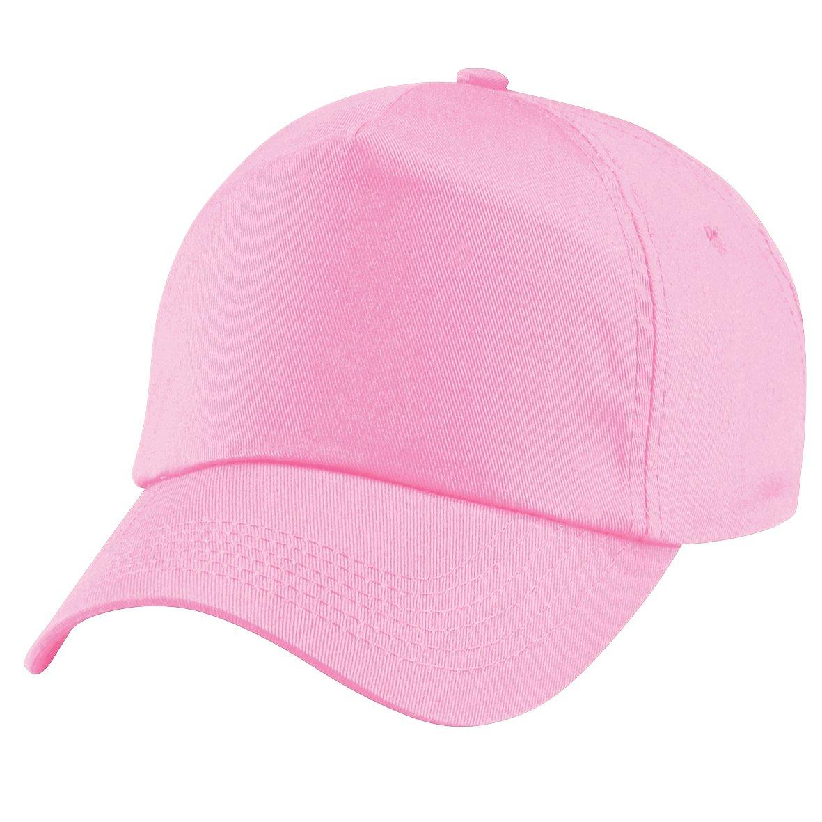 Beechfield - Cappellino Tinta Unita 100% Cotone - Bambino (Taglia unica) (Rosa)