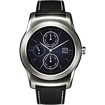 LG Watch Urbane Smartwach, Display P-OLED 1.3'', Argento [Italia]