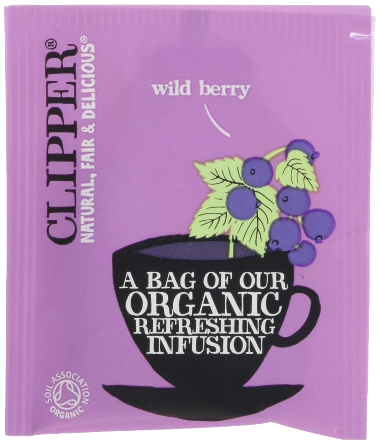 Clipper organic wild berry tea (soil association) (infusions) (250 bags) (a fruity tea with aromas of wildberry) (brews in 2-5 minutes)