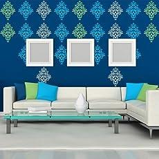ARHAT STENCILS ASR-E117 Damask PVC Glossy Wall Stencils