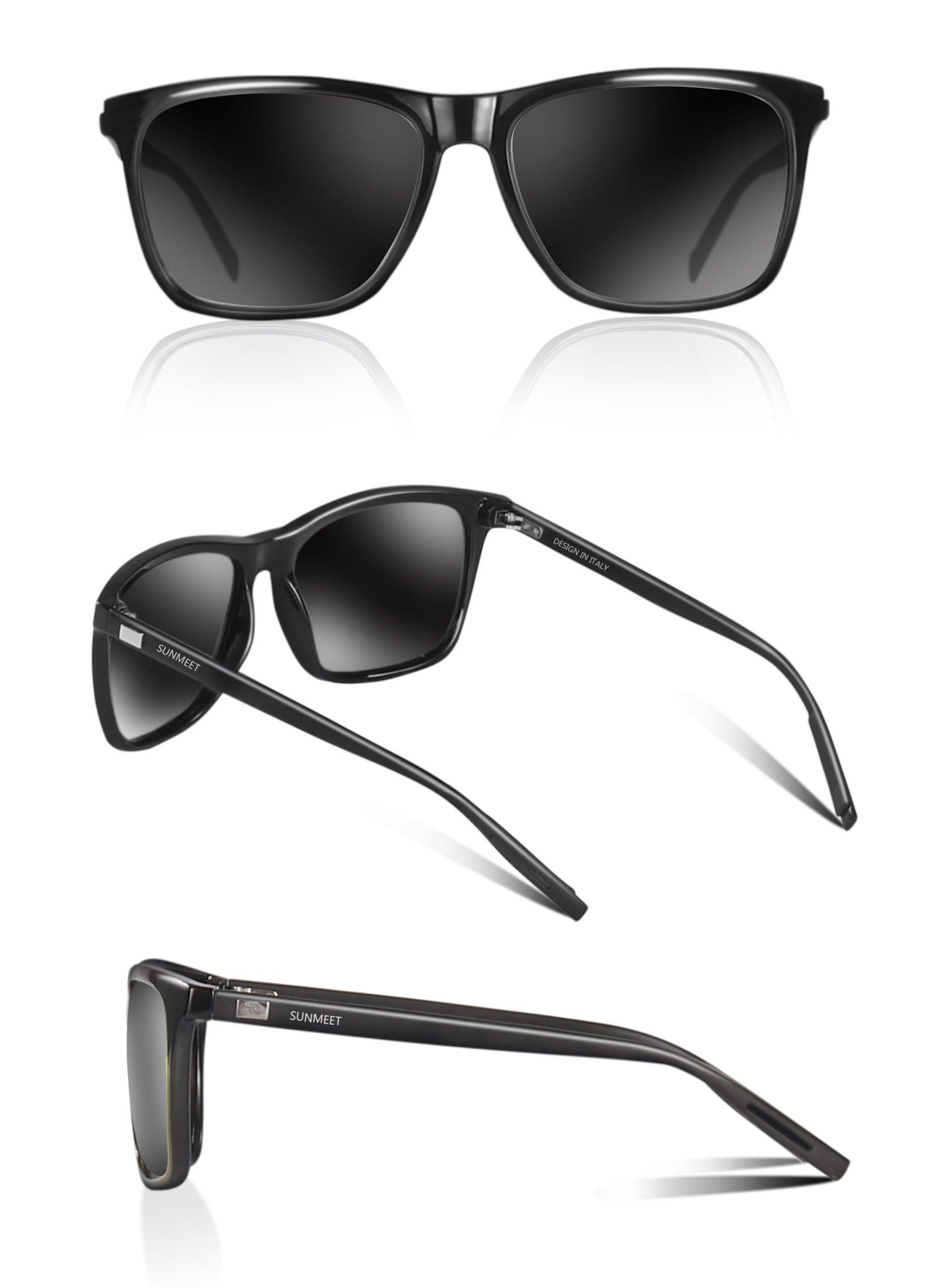 SUNMEET Gafas de sol Hombre Polarizadas Clásico Retro Gafas de sol ... c29b856b32