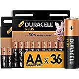Duracell - Plus AA, Batterie Stilo Alcaline, confezione da 36 ad apertura semplificata, 1.5 volt LR06 MN1500