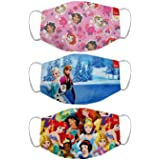 Bon Organik Disney Princess (OFFICIAL MERCHANDISE) 2 Ply Printed Cotton Cloth Face Mask Bundle For Kids (Set Of 3)