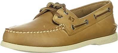 Sperry Top-Sider Men's Authentic 2-Eye Boat Shoe, Oatmeal, 14 W US