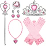 Comius Sharp Principessa Dress Up Accessori, 8 Pezzi Girls Dress Up Party Accessories Ragazze Collana Diadema Guanti Orecchin