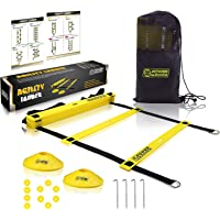 POWER GUIDANCE Scala Agilità Scaletta per Allenamento Calcio Esercizio velocità Fitness 6M con 12 Plastica Piolos…