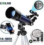 ESSLNB Telescopio Astronomico Bambini con Treppiede Regolabile e Adattatore Telefonico 70mm Completamente Rivestito…