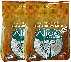 Alice İnce ve Beyaz Taneli Kedi Kumu 2x10 Kg (23 Lt)