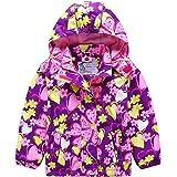 G-Kids AMIYAN - Chaqueta impermeable para niña con forro polar, cálida, resistente al viento, transpirable, para senderismo y