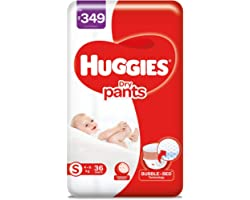 Huggies Dry Pants, Small (S) Size Baby Diaper Pants, 36 count, with Bubble Bed Technology for comfort