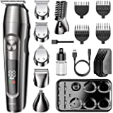DynaBliss Beard Trimmer Hair Clipper Hair Trimmer Clippers for Men Cordless Haircut Kit for Men Kids Adults LED Display USB B