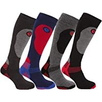 3 Mens Super Soft Full Cushioned Gentle Grip 2.3 Tog Ski Socks UK 6-11