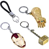 Pandacos the Avengers Endgame Keychain with Pendant in Zinc Alloy Color Gold Full Set of 3 PZ Accessory Costume Collection fo