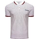 Lambretta Mens Geometric AOP Cotton Polo Shirt T-Shirt