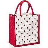 H&B Jute bag for lunch – lunch bag, lunch box bag, tiffin bag, tote bag, hand bag - bag for men, bag for women, girls bag, lu
