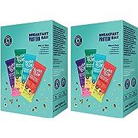 Yogabar Breakfast Protein Variety (Almond Coconut, Apricot & Fig, Blueberry, Apple Cinnamon Bars) - (300gm, 6 x 50gm…