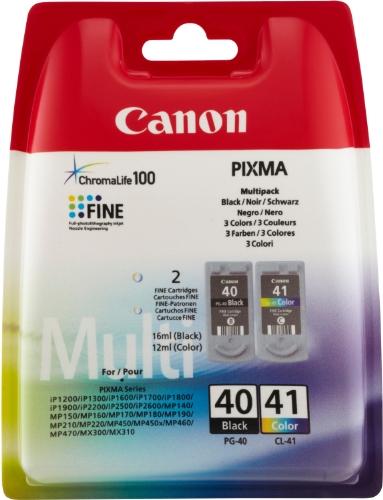 Canon PG-40 / CL-41 - Cartuchos de tinta para impresoras (12 ml Color,