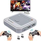 Whatsko Consoles de Jeux Super Console X + 2 Manettes de jeu sans fil, 33000 en 1 Console de Jeux vidéo Arcade, WIFI Console
