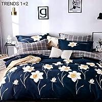 Trendz Décor Glace Cotton Double Bed Duvet Cover with Zip Closure (90 x 100)