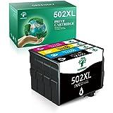 GREENSKY Cartucho de Tinta de Repuesto para Epson 502XL Compatible con Epson Workforce WF-2860DWF,WF-2865DWF,Epson Expression