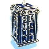Spilla in Smalto e Metallo, rappresentante la Cabina Telefonica della Polizia/Macchina del Tempo Tardis del Doctor Who.
