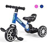 Peradix 3 EN 1 Triciclo para Niños, Bicicleta Desmontable de Pedales, Bicicleta Sin Pedales para Niños y Niñas, Bicicleta de