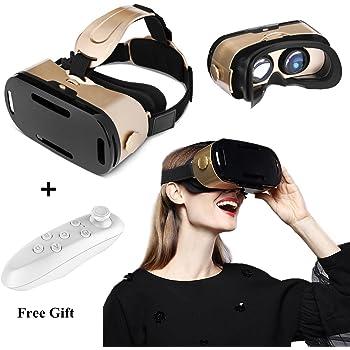 VR casque avec télécommande, 3d VR Lunettes pour 3d Films jeux, lunettes de 22ae66a974a1