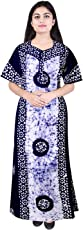 Silver Organisation Women Cotton Nighty, Gown, Sleepwear, Nightwear, Maxi - Soft and Stylish Night Suit, Cotton