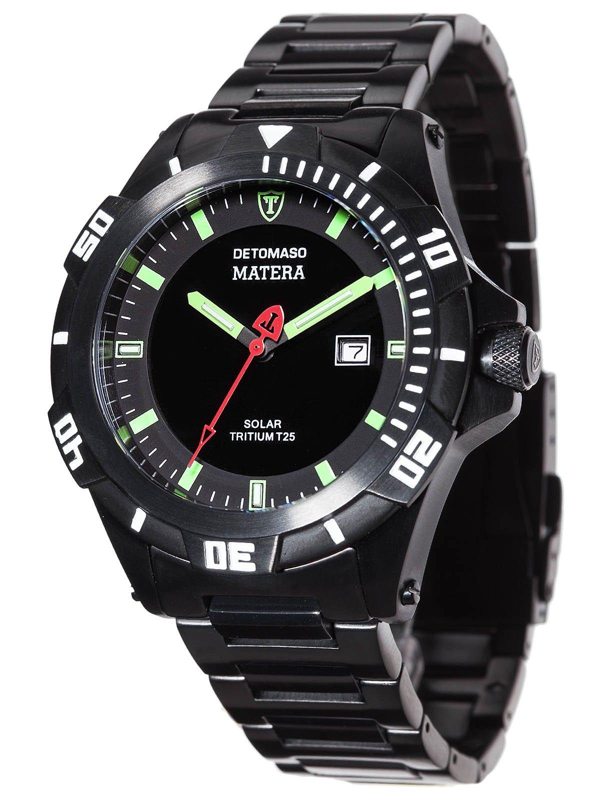 Detomaso DT2044-A – Reloj de pulsera hombre, acero inoxidable, color negro