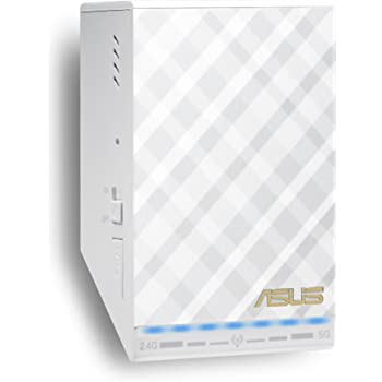 Asus RP-AC52 Ripetitore Wireless Dual Band AC750, Access Point con Music Streamer Integrato, Bianco