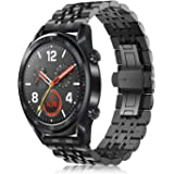 FINTIE Cinturino Compatibile con Huawei Watch GT/GT 2 / GT Active/GT Elegant smartwatch - Cinturini di Ricambio in Acciaio In