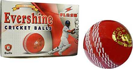 Flash Synthetic Cricket Ball Red (1pcs )