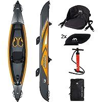 Aquamarina Kayak 1 Posto Tomahawk Air-375 Adulte Unisexe, Noir/Orange, UNI