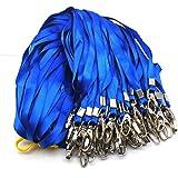 Cordon Correa de Cuello,30 Pack Correa de Acollador Azul Empleados Lanyard para Tarjetas de Identificación Llaveros Conferenc