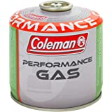 Coleman C300 Performance Bombola Gas con Valvola, per Fornelli da Campeggio, Cartuccia Compatta e Richiudibile