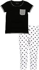 MINNOW Girls Top and Printed Capri Set(Pack of 1 Set)