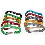 Boundless Voyage Aluminiumlegering mini karabijnhaak sleutelhanger voor het ophangen van haken voor campingwandelingen, niet