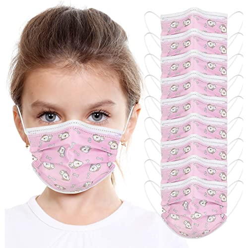 10 Pezzi Taglia Bambini Prodotti Contro Appannamento e Sporco in Meltblown Tessuto Non Tessuto, nasello regolabile, Consegna entro 48 ore (A, 10)