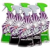 Cillit Bang - Spray Limpiador Suciedad y Manchas de Humedad, para Baños y juntas negras + Spray Quitagrasas, para cocinas - P