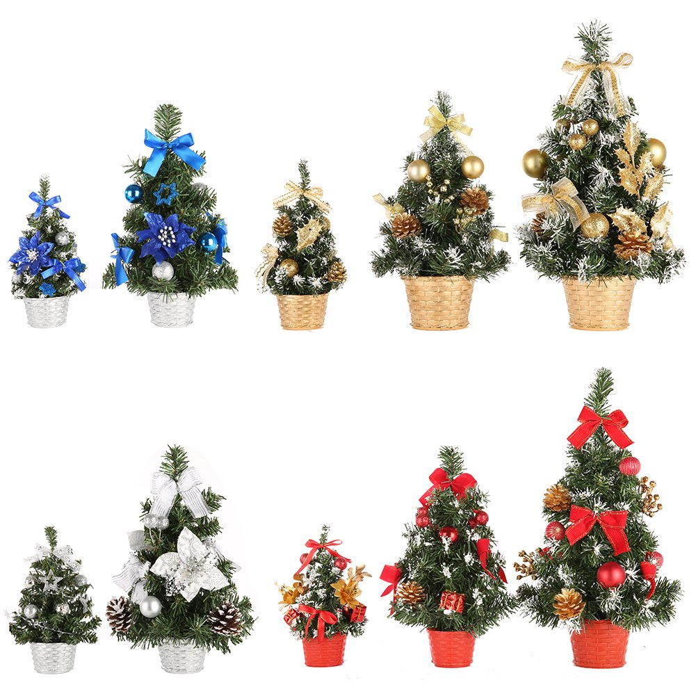 Small Silver Christmas Tree.Wingbind Small Christmas Desk Tree Golden Blue Red Silver Christmas Tree For Home Office Shopping Mall Bars Decoration Xmas Uk