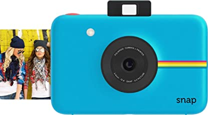 Polaroid Fotocamera Digitale a scatto istantaneo (Blu) con Tecnologia di Stampa a Zero Inchiostro ZINK