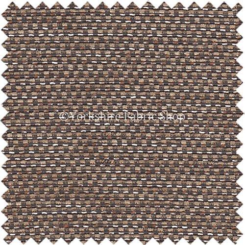 morbido-tessuto-da-tappezzeria-checked-effetto-sacco-colore-cioccolato-per-cuscini-tende-sedie-divan